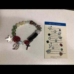 NWOT Religious Charm stretch bracelet
